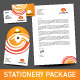 Orange abstract Stationery Package - GraphicRiver Item for Sale