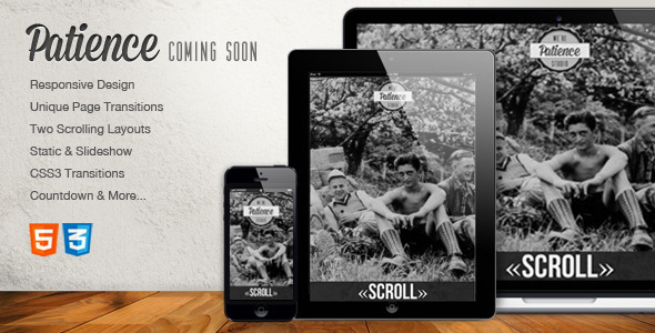 Patience – Responsive Coming Soon HTML5 Template