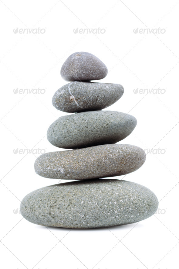 The pyramid of pebbles. - Stock Photo - Images