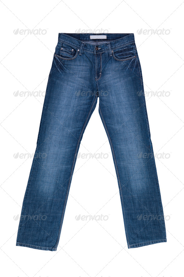Jeans  on white background - Stock Photo - Images