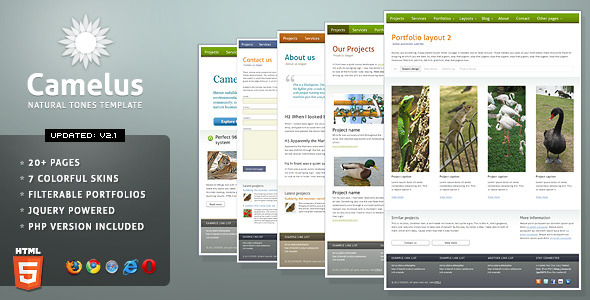 Free Download Camelus - Nature Tones Business Template Nulled Latest Version