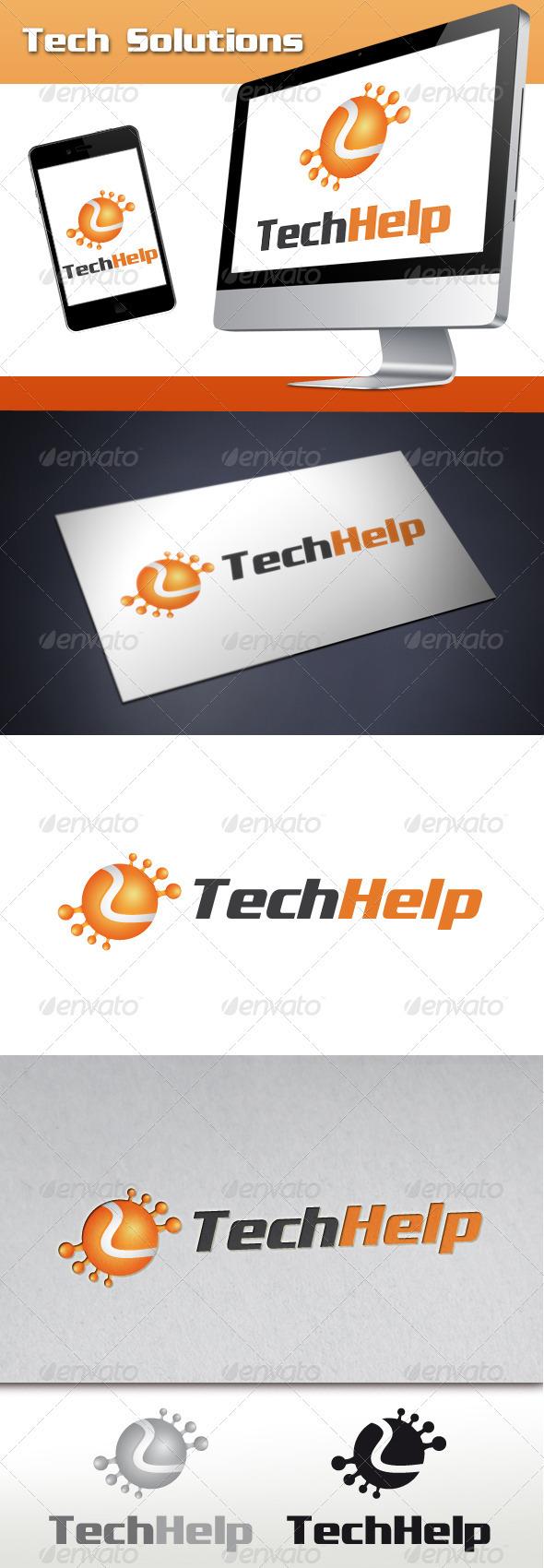 Tech Solutions Logo - Abstract Logo Templates