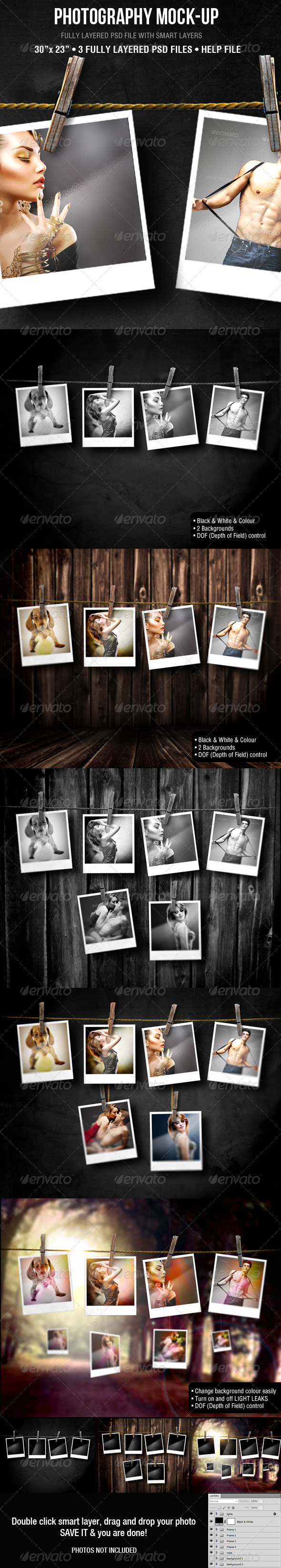 Photography Mock-up - Miscellaneous Photo Templates