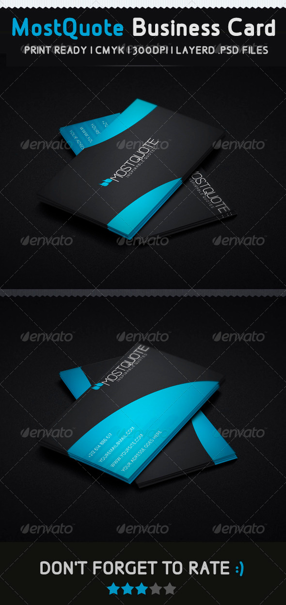 Mostquote Creative Business Card - Creative Business Cards