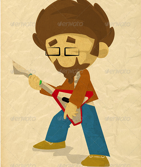 Guitar Game - Characters Illustrations