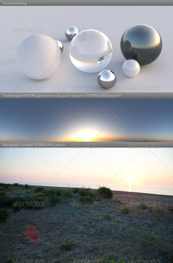 HDRI spherical panorama -0625- dawn sunrise - 3DOcean Item for Sale
