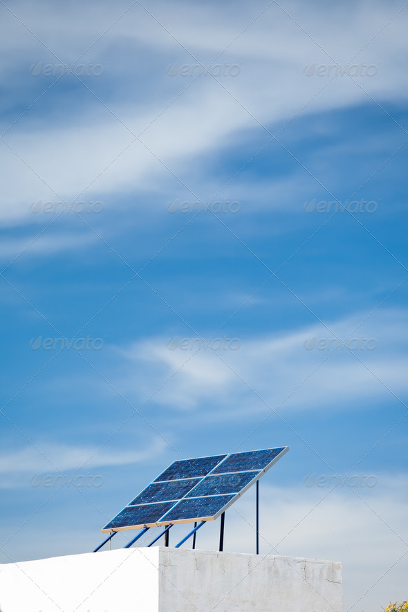 Solar Panel Array - Stock Photo - Images