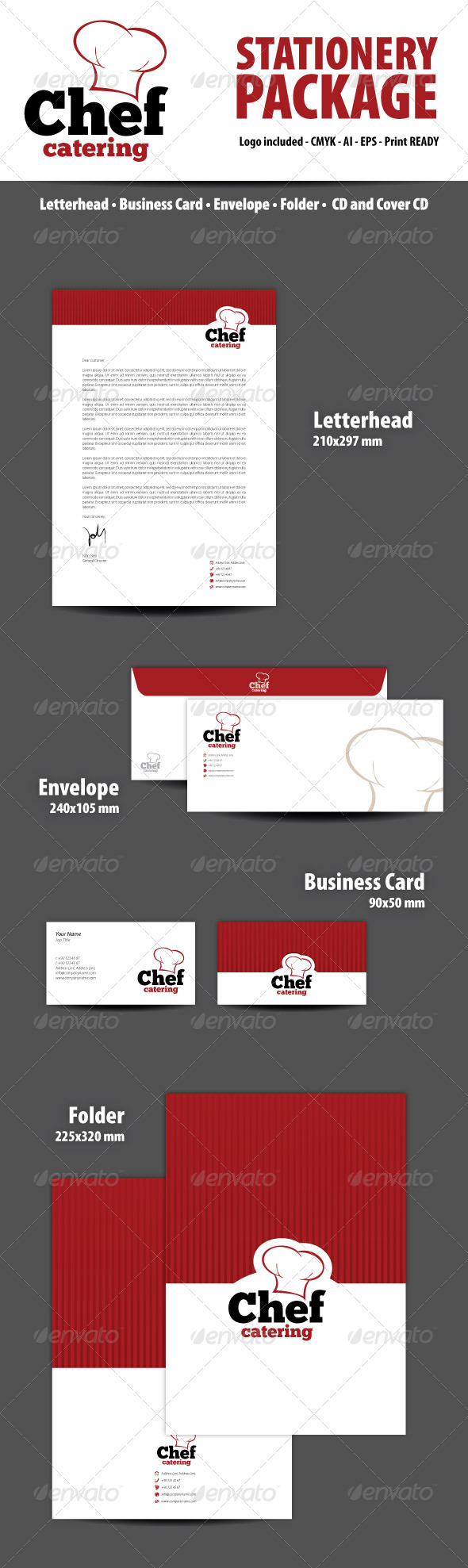 Chef Catering Stationery Package - Stationery Print Templates