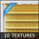 10 Tileable Gold Fabric Textures - GraphicRiver Item for Sale