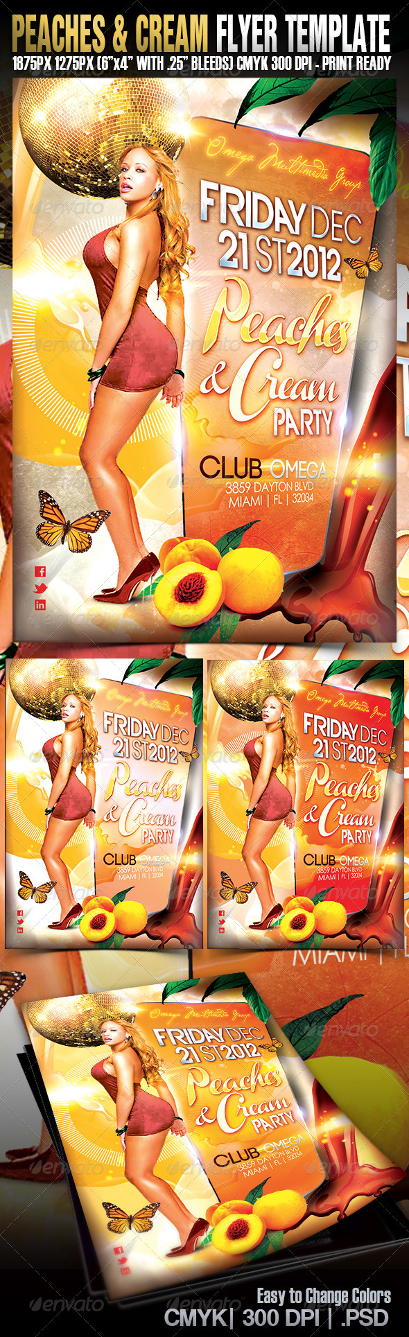 Peaches & Cream - Events Flyers