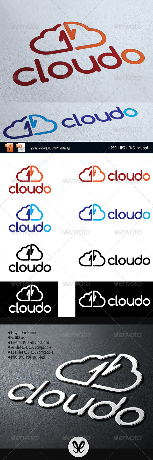 Cloud Storage - Cloudoo Logo Temlate - Logo Templates