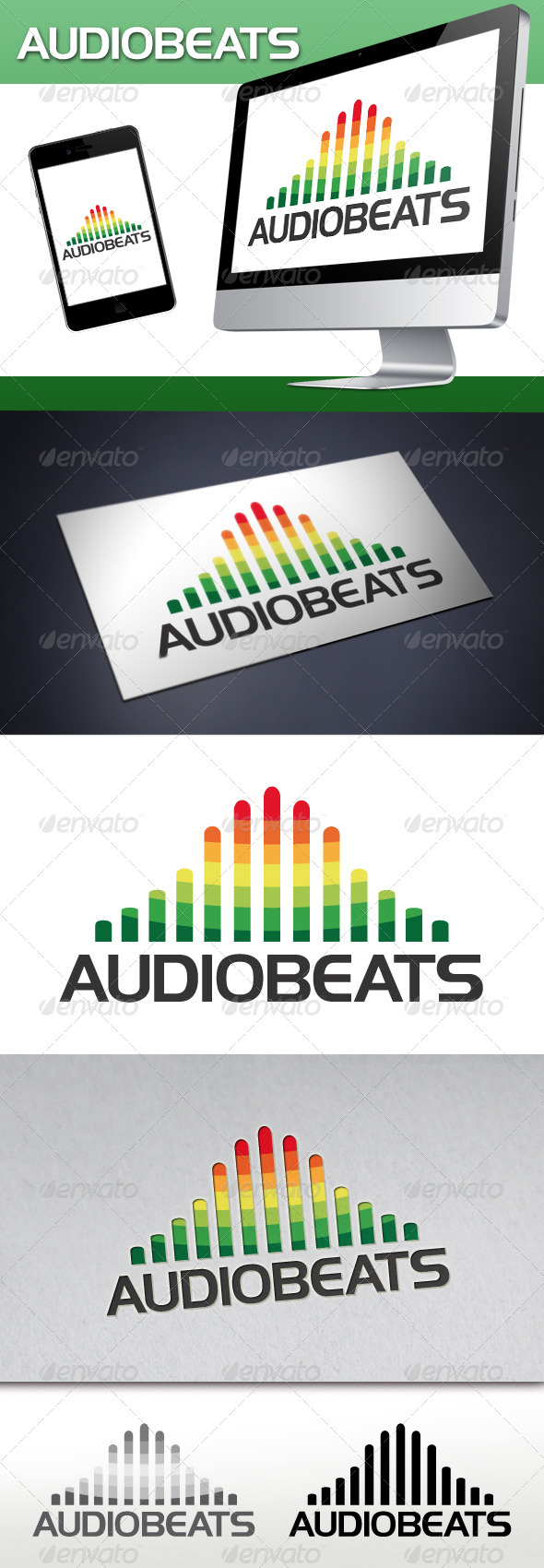 Audio Beats Logo - Symbols Logo Templates
