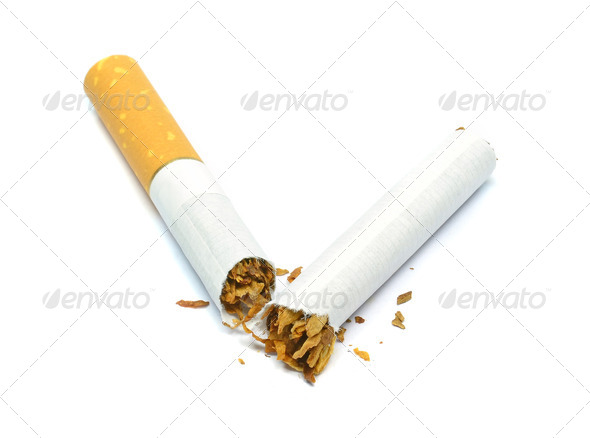 A Broken Cigarette - Stock Photo - Images