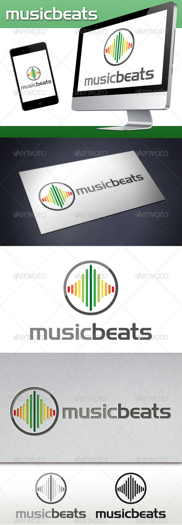 Music Beats Logo - Symbols Logo Templates
