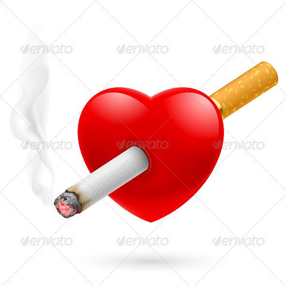 Smoking Kills the Heart - Objects Vectors