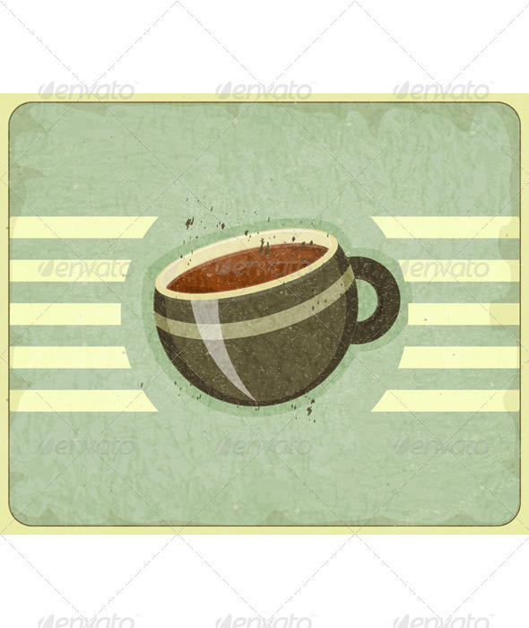 Retro Cover for Coffee Menu - Food Objects