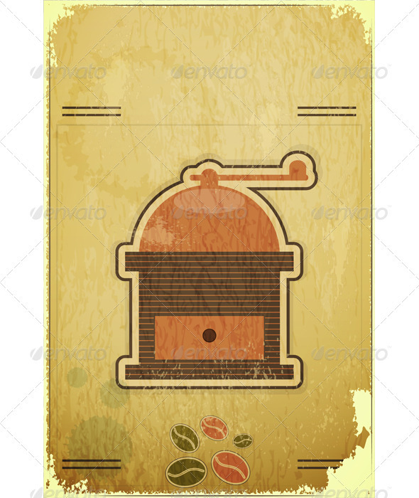 Retro Coffee Mill - Food Objects
