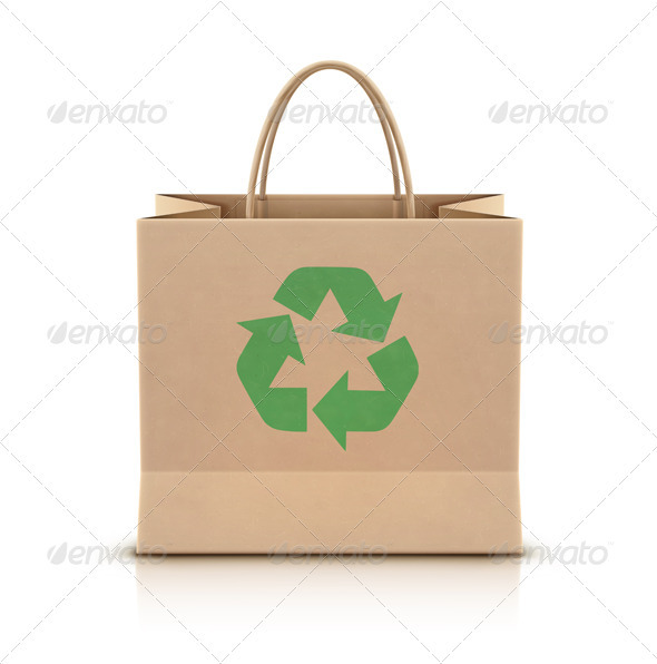 Eco Shopping Bag - Conceptual Vectors