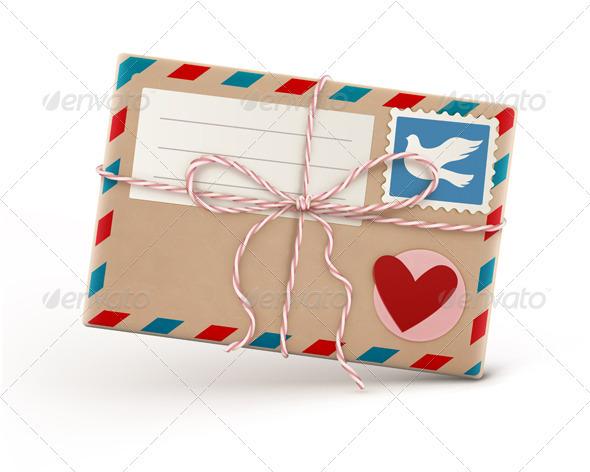 Retro Airmail Envelope - Decorative Vectors