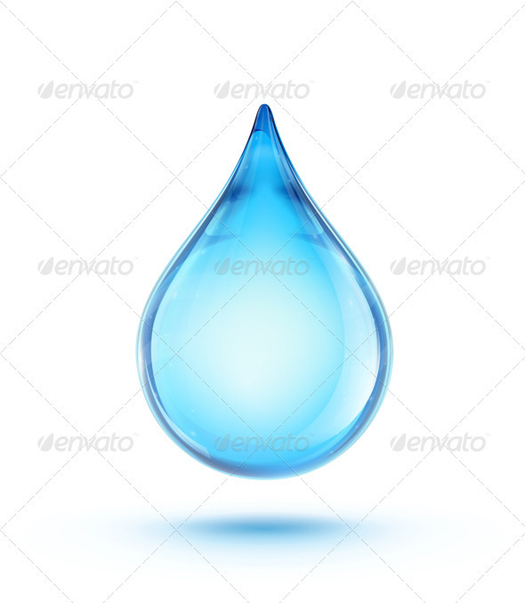 Water Drop Logo - Objects Vectors