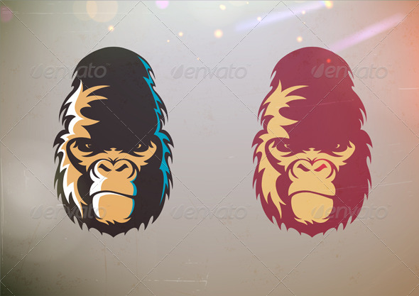 Gorilla Smirk Face  - Animals Characters