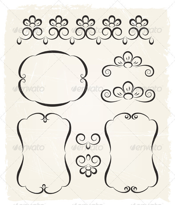 Vintage Calligraphic Design Elements - Decorative Symbols Decorative