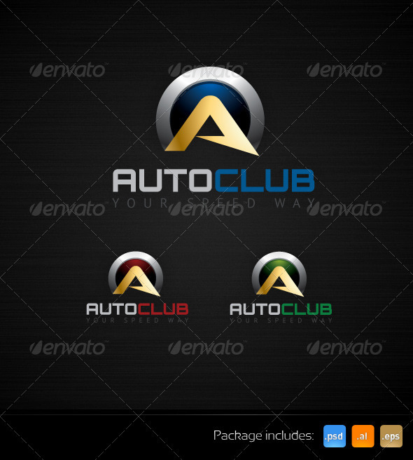 Auto Club Speed Way Creative Logo Template - Letters Logo Templates