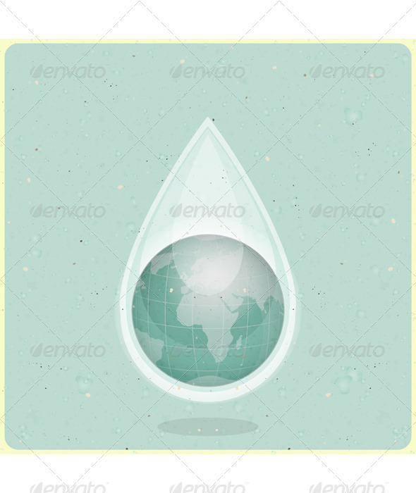 Eco Water Planet - Conceptual Vectors