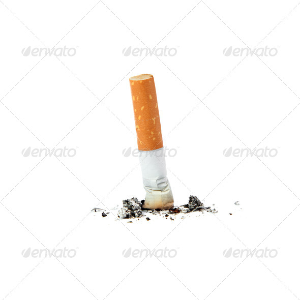 Extinguished cigarette. - Stock Photo - Images