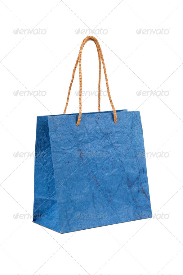 Paper bag with handles - Stock Photo - Images