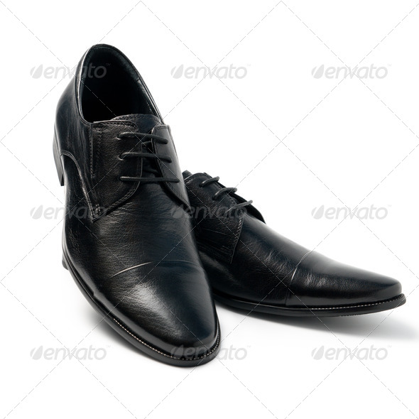 The black man's shoes - Stock Photo - Images