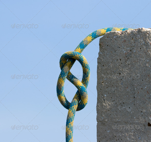 Knot figure-of-eight. - Stock Photo - Images