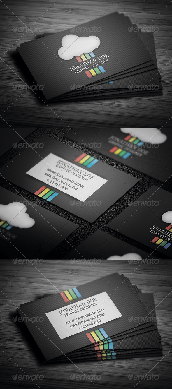 Rainbow Design Business Card - Creative Business Cards