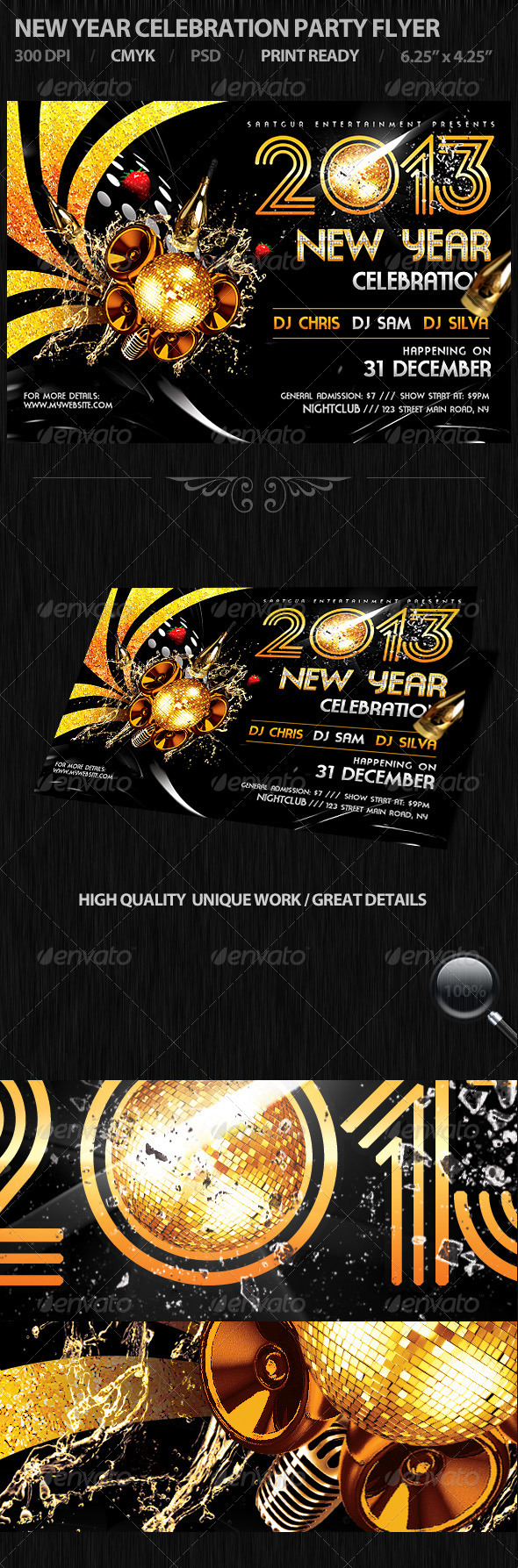 New Year Celebration Party Flyer - Events Flyers