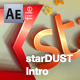 StarDust Intro with Flying Logo - VideoHive Item for Sale