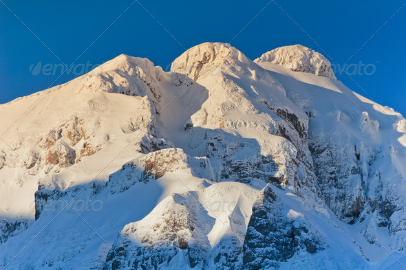 mountains with snow - Stock Photo - Images