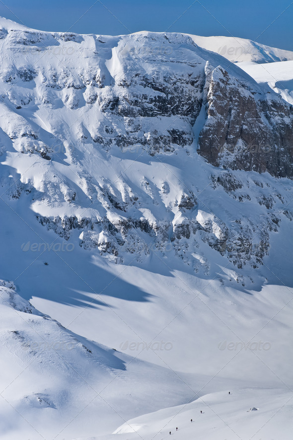 Winter mountain valley - Stock Photo - Images