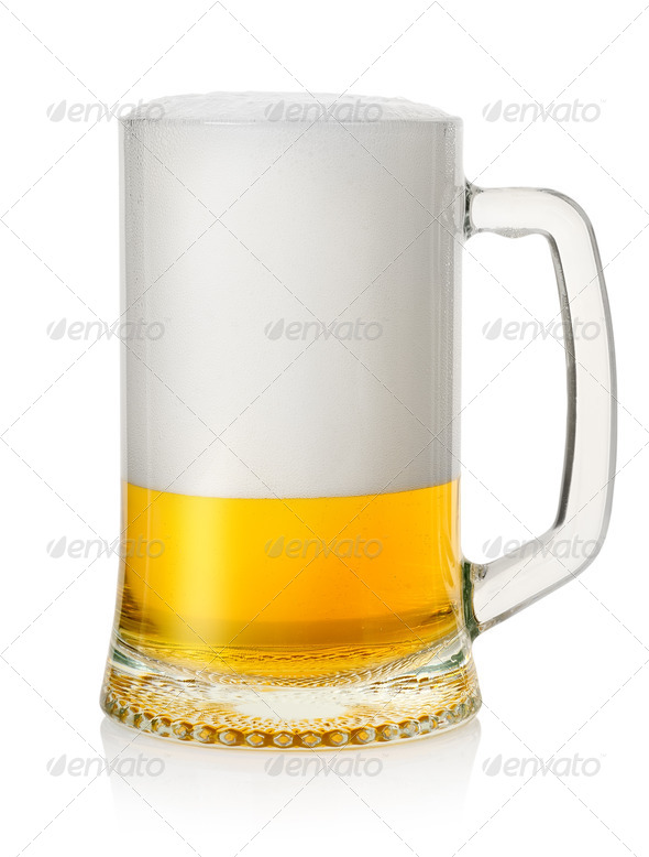 Mug with lager beer - Stock Photo - Images