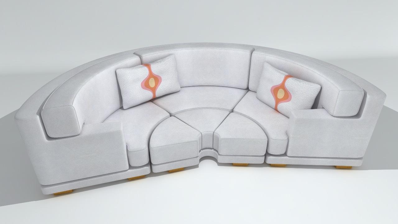 Circular Sofa Final Render ...