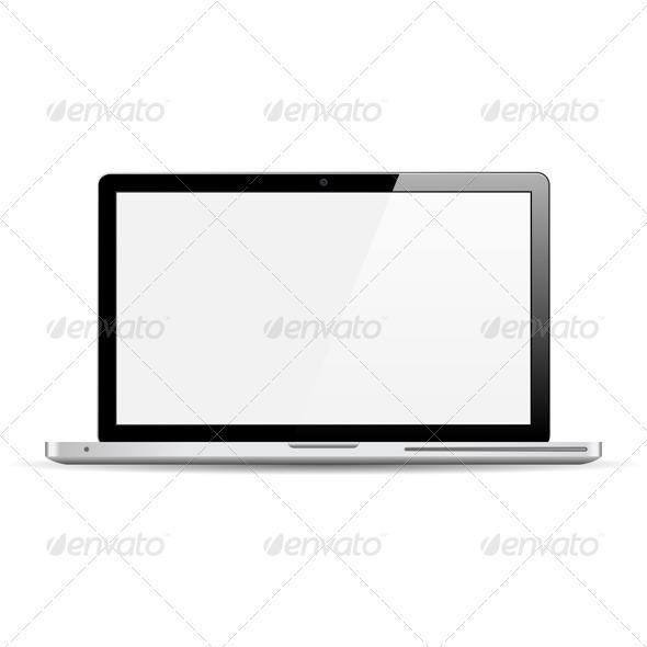 Modern Laptop - Computers Technology