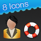 Petiticons - 8 Modern Software Icon Set - GraphicRiver Item for Sale