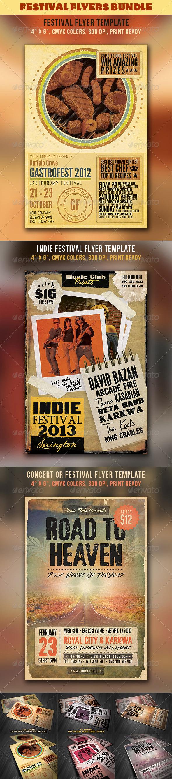 Festival & Concert Flyers Bundle - Concerts Events