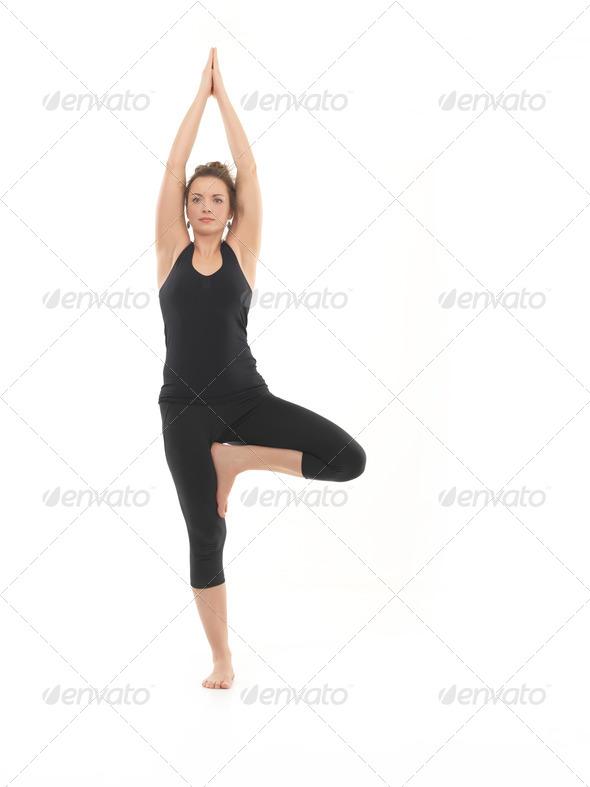 balance yoga pose - Stock Photo - Images