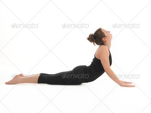advanced yoga pose - Stock Photo - Images