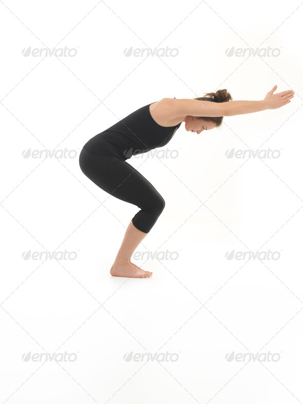 yoga practice for beginner - Stock Photo - Images