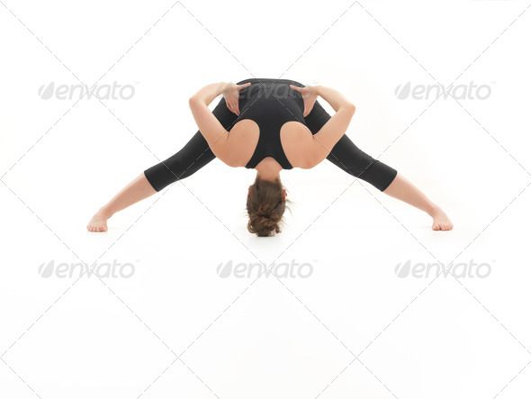demonstration of yoga pose - Stock Photo - Images