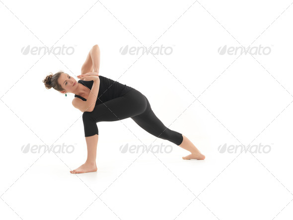 yoga posture demonstration - Stock Photo - Images