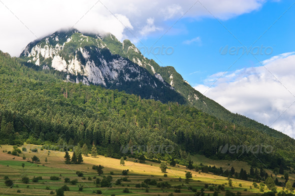cloudy mountain - Stock Photo - Images