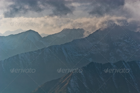 mountain range - Stock Photo - Images