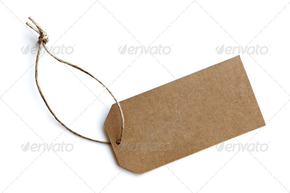 Blank price tag - Stock Photo - Images